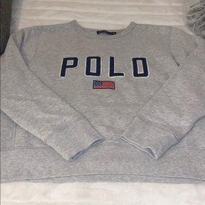 Like new!!! Still in stores. Polo sweatshirt